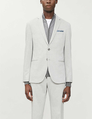 HUGO BOSS Single-breasted regular-fit stretch-woven blazer