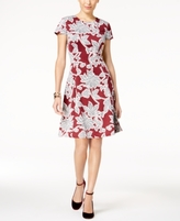 Alfani Petite Floral-Print Fit & Flare Dress, Created for Macy's