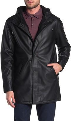 Weatherproof Faux Fur Hooded Faux Leather Jacket