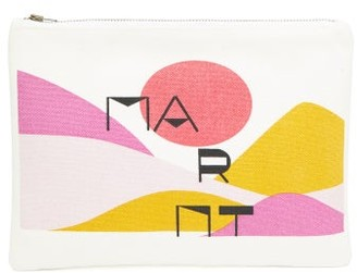 Isabel Marant Sunset-print Canvas Pouch - Womens - White Multi