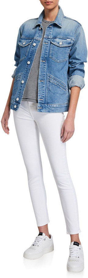 Thumbnail for your product : Jen7 High-Rise Skinny Ankle Jeans