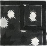 Diesel geometric pattern scarf