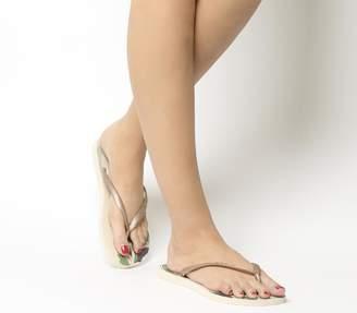 Havaianas Slim Organic Flip Flops Beige
