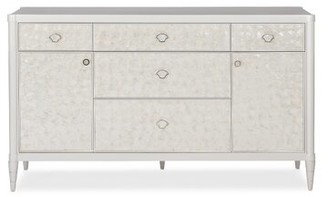 Caracole Classic Moonrise 5 Drawer Combo Dresser