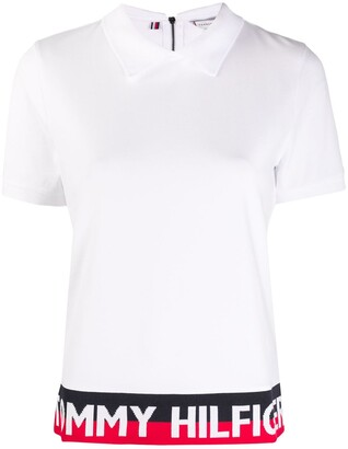 Tommy Hilfiger Logo Colour-Block Polo Top