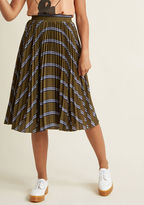 ModCloth Pleat Your Heart Out A-Line Midi Skirt in S