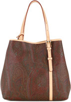 Etro paisley patterned tote - women - Calf Leather - One Size