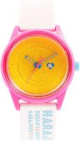 Harajuku Lovers Unisex Emoji Designed by Gwen Stefani White Printed Strap Watch 40mm HL2324