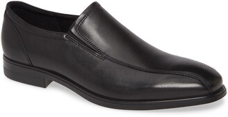 Ecco Queenstown Bike Toe Slip-On Leather Loafer