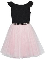 David Charles Black Lace Dress With Tulle Skirt