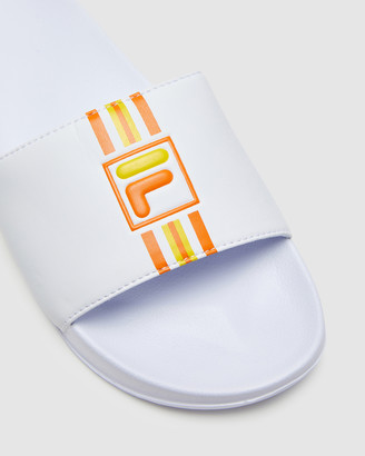 Fila Women's White Slides - Vietri Slide - Women's - Size One Size, 4 at The Iconic