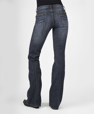 Stetson Women's Denim Pants and Jeans BLUE - Blue Denim Dark Wash Bootcut Jeans - Women & Plus
