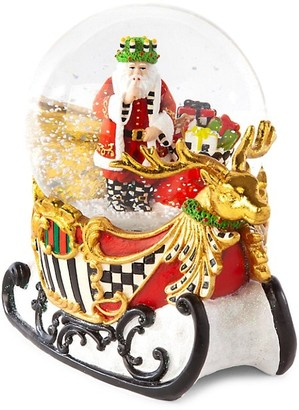 Mackenzie Childs Sleigh Ride Snow Globe