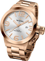 Tw Steel Cb161 Canteen Rose Gold Pvd-plated Stainless Steel Watch