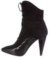 Proenza Schouler Python Pointed-Toe Ankle Boots