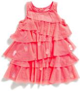 Billieblush Billie Blush Girls Sleeveless Tulle Ruffle Dress