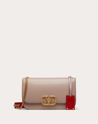 Valentino Vlock Brushed Calfskin Shoulder Bag Women Poudre 100% Pelle Di Vitello - Bos Taurus OneSize