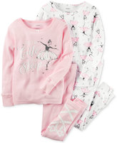Carter's 4-Pc. Tutu Cute To Sleep Ballerina Pajama Set, Baby Girls (0-24 months)