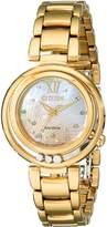 Citizen Women's EM0322-53Y Sunrise Analog Display Japanese Quartz Gold Watch