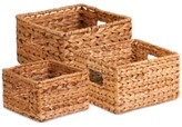 Honey-Can-Do 3-Piece Nesting Banana Leaf Basket Set