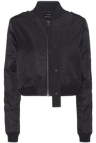 Anthony Vaccarello Cropped Twill Bomber Jacket