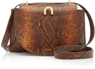 Yuzefi Edith Snake-Effect Leather Shoulder Bag