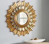 Pottery Barn Antique Gold Sunburst Wall Mirror