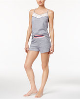 Tommy Hilfiger Cami and Shorts Space-Dyed Cotton Pajama Set