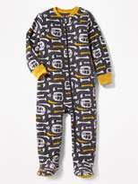 Old Navy Performance Fleece Bones-Print Sleeper for Toddler & Baby