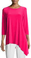 Caroline Rose 3/4-Sleeve Side Fall Top, Petite