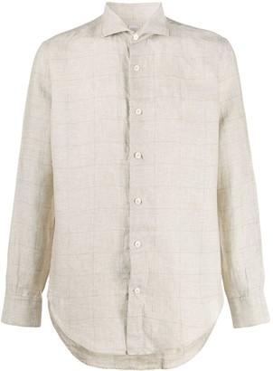 Eleventy Long-Sleeved Check Shirt