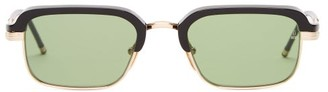 Jacques Marie Mage Comanche Rectangle Acetate And Titanium Sunglasses - Green