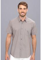 Trina Turk Slim Jim S/S Shirt in Circular Grille Print
