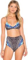 Mara Hoffman Scoop Neck Bikini Top in Black. - size S (also in )