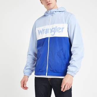 Wrangler Mens River Island light Blue windbreaker jacket