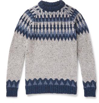 Howlin' Before The Snowfall Fair Isle Melange Wool Sweater