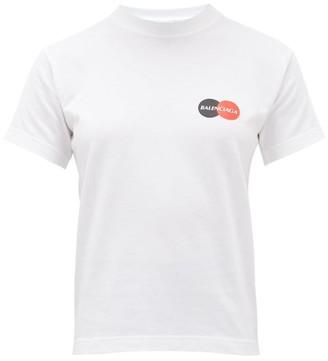 Balenciaga Logo-print Jersey T-shirt - White