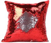 Mullsan Stylish Sequin Mermaid Throw Pillow Cover with Magical Color Changing Reversible Paillette Design Decor Cushion Pillowcase 16 X 16 Inch (WZ-3)