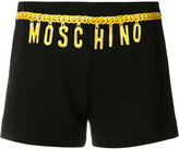 Moschino chain logo print shorts - women - Polyester/Triacetate - 38