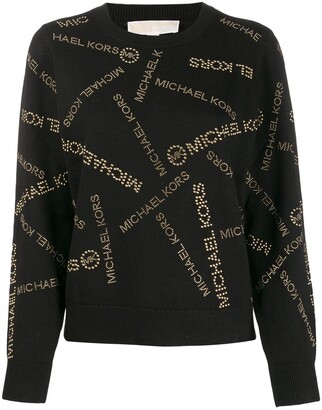 MICHAEL Michael Kors All-Over Logo Print Sweater