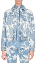 Givenchy Bleached Stars Denim Jacket, Light Blue