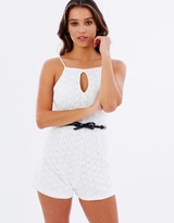 Lipsy Daisy Belted Lace Playsuit
