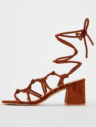 Public Desire Freya Ankle Tie Heeled Sandal