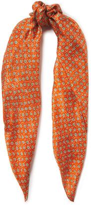 American Vintage Floral-print Silk-voile Scarf