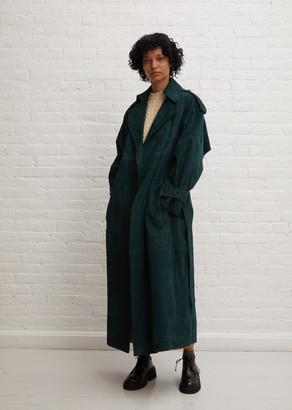 KHAITE Suede Libby Coat