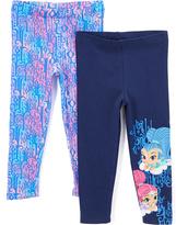 Children's Apparel Network Two-Pack Blue & Pink Leggings - Toddler & Girls