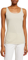 Lafayette 148 New York Modern Scoop-Neck Ribbed Cotton Tank
