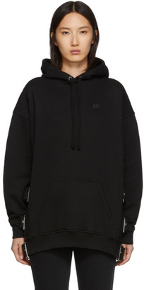 McQ Black Belted Superslouch Hoodie