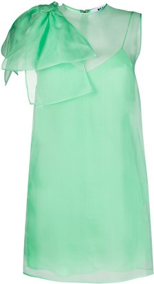 MSGM Bow-Shoulder Sleeveless Dress