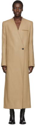 Haider Ackermann Beige Lord Collarless Coat